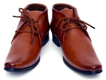 Free Stock Photo of Pair of Brown Male Adult Leather Shoes