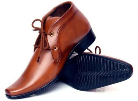 Free Stock Photo of Brown Male Leather Shoes