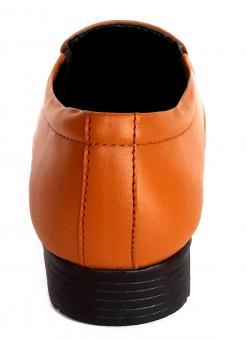 Free Stock Photo of Single Brown Leather Shoe - Back View