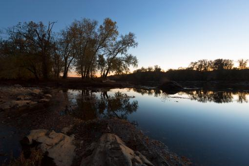 Free Stock Photo of Potomac River Twilight - Swains Lock