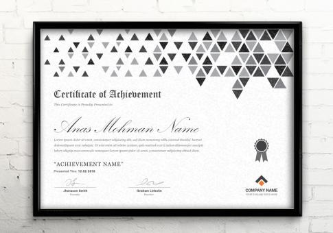 Free Stock Photo of Black and White Corporate Certificate Template