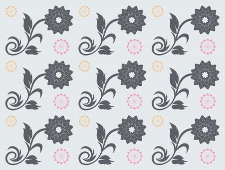 Free Stock Photo of  Seamless Floral Vector Pattern