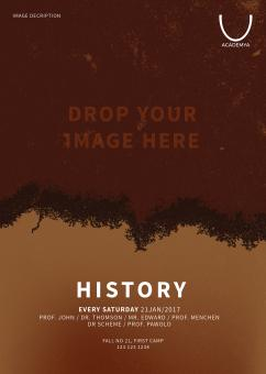 Free Stock Photo of PSD History Poster and Flyer