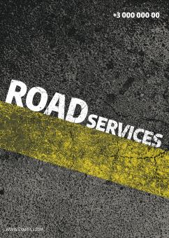 Free Stock Photo of PSD Road Services Poster