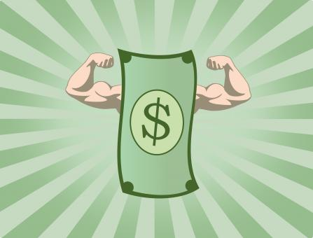 Free Stock Photo of The Mighty Dollar - The Power of Money