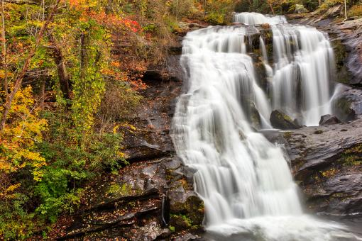Free Stock Photo of Bald River Autumn Falls