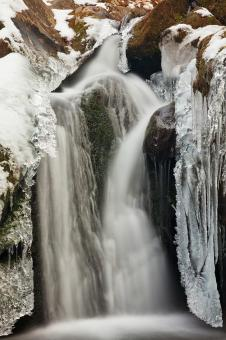 Free Stock Photo of Frozen Hollow Falls