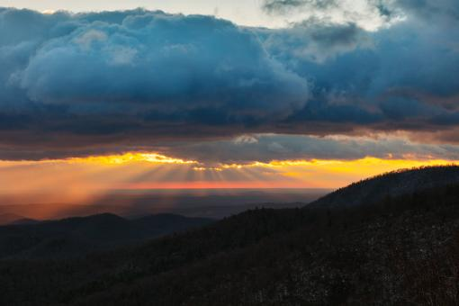 Free Stock Photo of Winter Shenandoah Sunrise