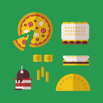 Free Stock Photo of Italian Food Icons