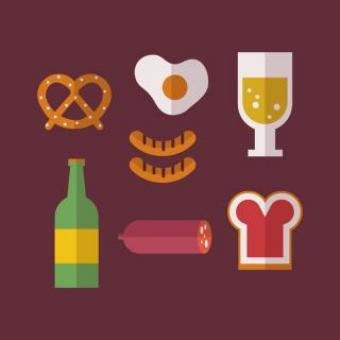Free Stock Photo of German Food Vector Icons