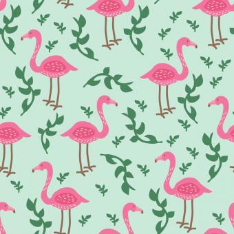 Free Stock Photo of Seamless Flamingo Vector Pattern