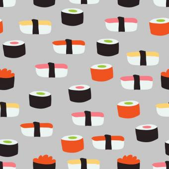 Free Stock Photo of Seamless Sushi Vector Pattern