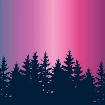Free Stock Photo of Pinkish Sky Illustration