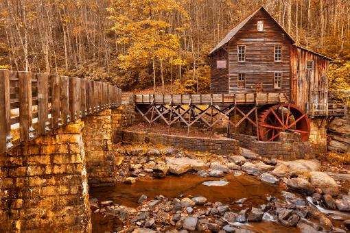 Free Stock Photo of Golden Glade Creek Grist Mill