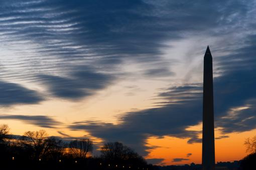Free Stock Photo of Washington Silhouette Monument