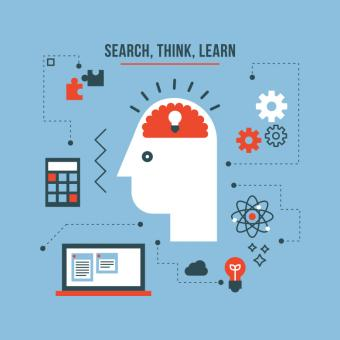 Free Stock Photo of Search, Think, Learn - Illustration