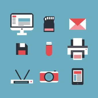 Free Stock Photo of Technology Set of Vector Icons