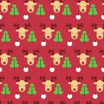 Free Stock Photo of Reindeer Seamless Pattern