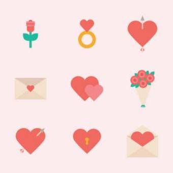 Free Stock Photo of Red Hearts Vector Icons