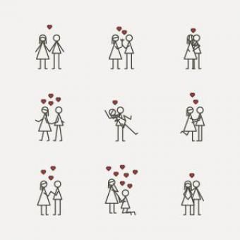 Free Stock Photo of Simple Couples - Vector Icons