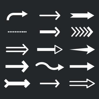 Free Stock Photo of Black and White Arrows