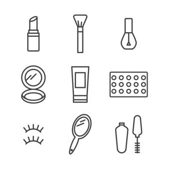 Free Stock Photo of Outlined Beauty Product Icons