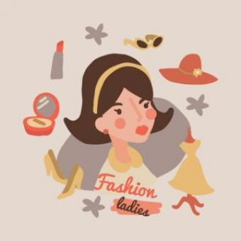 Free Stock Photo of Vintage Fashion Illustration