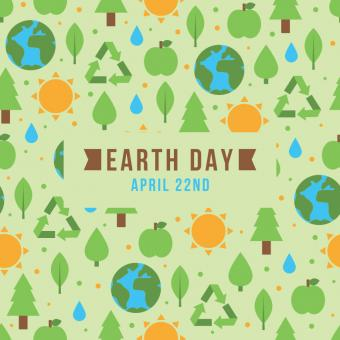Free Stock Photo of Earth Day Pattern