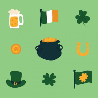 Free Stock Photo of St Patrick Vector Doodles