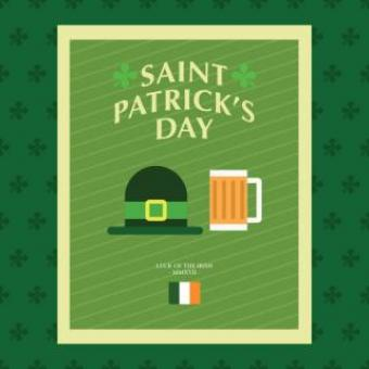 Free Stock Photo of Saint Patrick's Day Poster