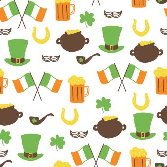 Free Stock Photo of Green and orange pattern for 17th March
