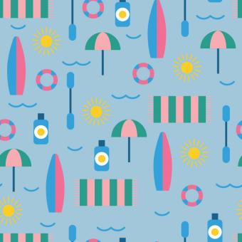 Free Stock Photo of Flat Summer Vector Pattern