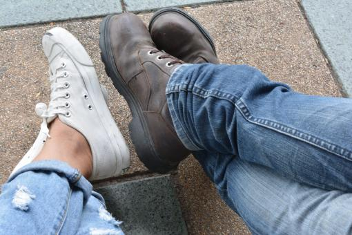 Free Stock Photo of Feet Friendship