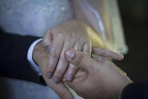 Free Stock Photo of Wedding Couple - Rings on Finger