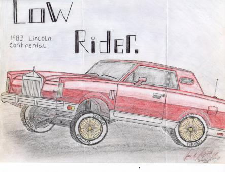 Free Stock Photo of Low Rider drawing by hand