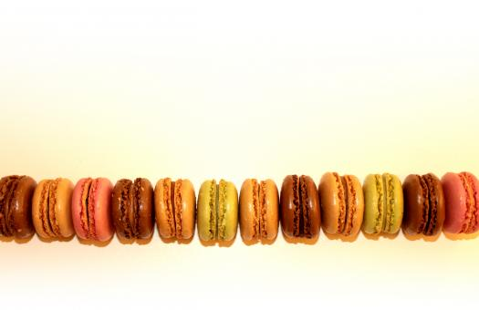 Free Stock Photo of French Macaroons - With Copyspace - Sweets and Cookies