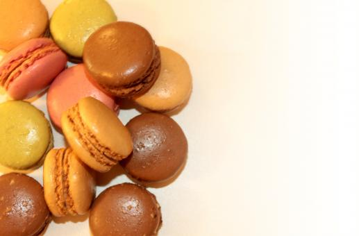 Free Stock Photo of  Sweets and Cookies - French Macaroons - With Copyspace