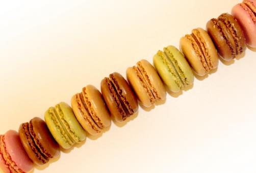 Free Stock Photo of Top View of French Macaroons - Sweets and Cookies