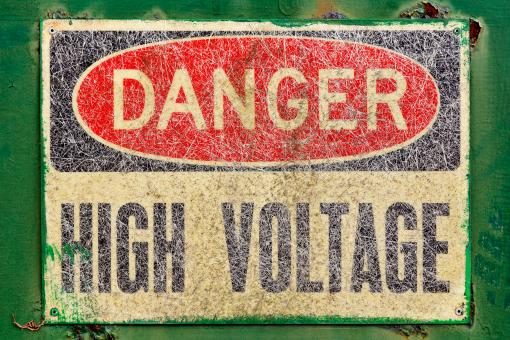 Free Stock Photo of Danger Sign - High Voltage