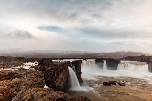 Free Stock Photo of Cloudy Godafoss