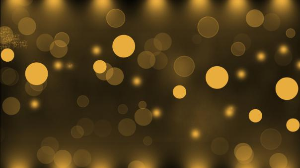 Free Stock Photo of Gold Bokeh Background
