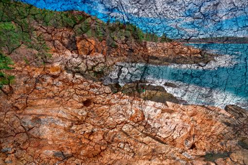 Free Stock Photo of Cracked Wood Impressions of Thunder Hole