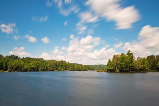 Free Stock Photo of Lake Adirondack Cloud Streaks