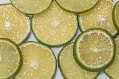 Free Stock Photo of Background of Lime Slices