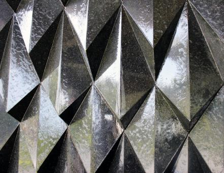 Free Stock Photo of Background from Metallic Modern Angular Architectural Details
