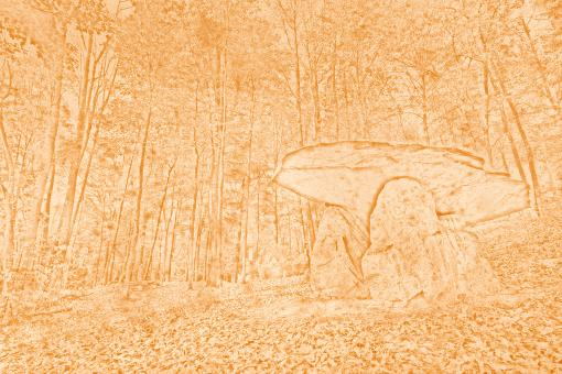 Free Stock Photo of Vintage Dolmen Forest