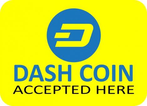Free Stock Photo of Dashcoin Accepted Here Cryptocurrency Vector Sticker