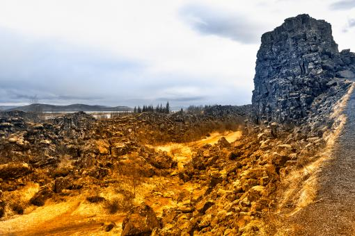 Free Stock Photo of Golden Blues of Thingvellir