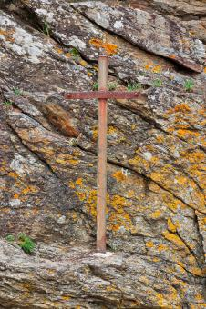 Free Stock Photo of Saint-Malo Cliff Cross