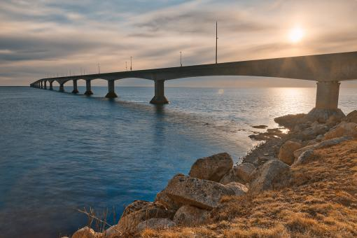 Free Stock Photo of Confederation Sunset Bridge